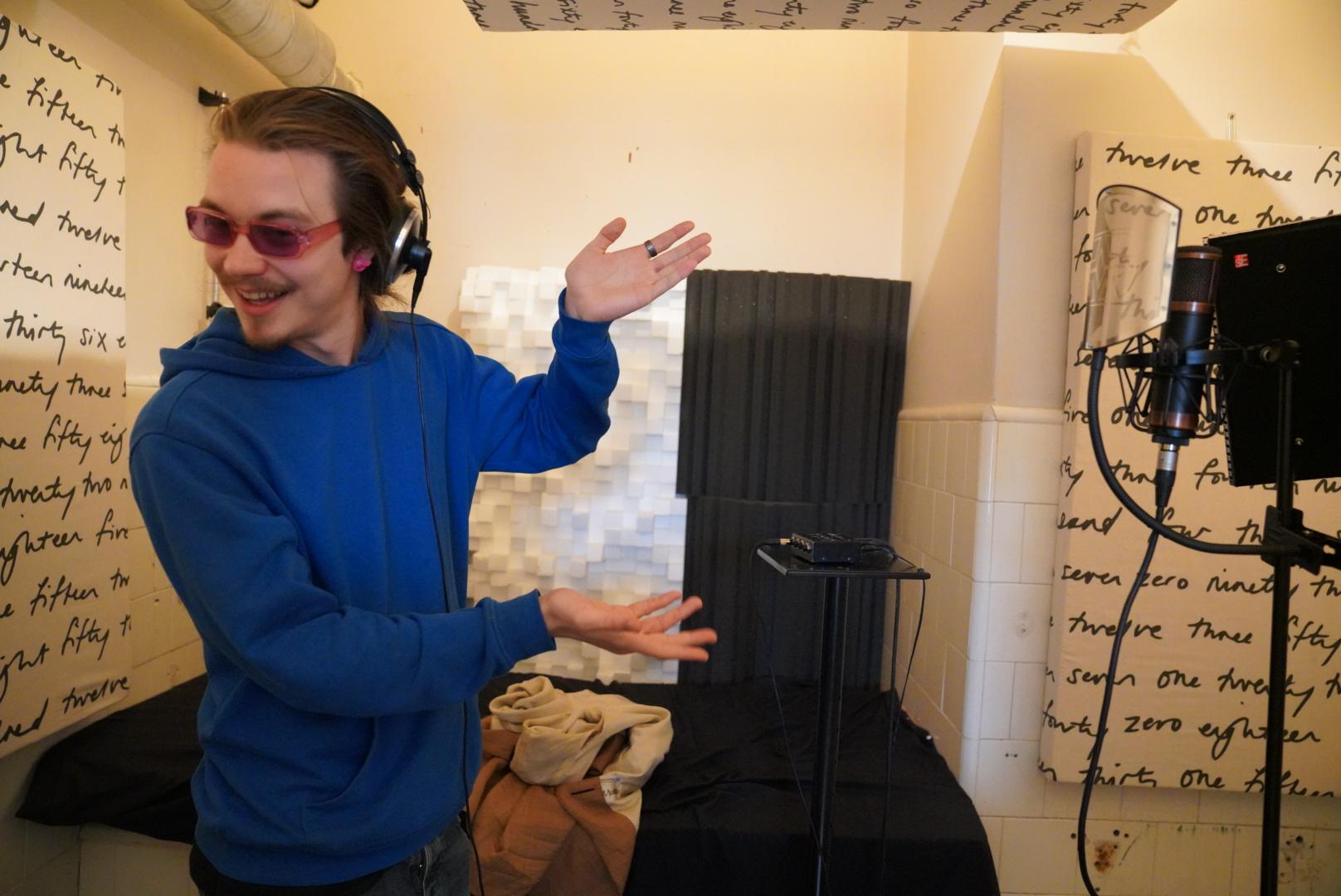 Vokalsinnspilling på studio Badet